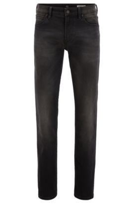 Regular-fit grijze jeans van stretchdenim, Antraciet