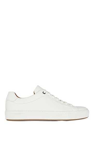 男士商务休闲皮革运动鞋,  100_白色