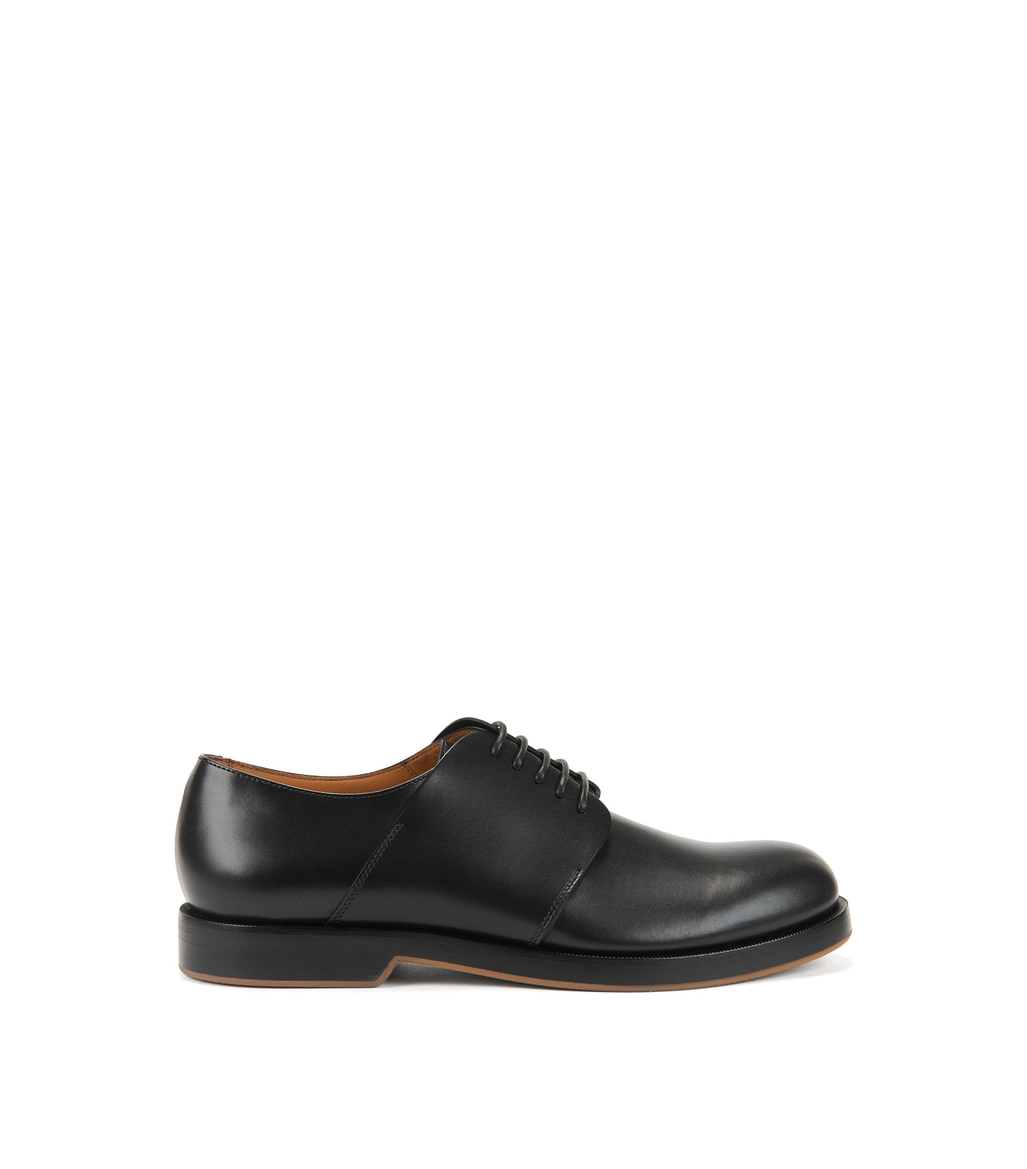 Derby shoes in leather, Black