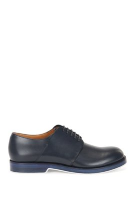 Chaussures Derby en cuir finition vieillie295.00BOSS 91qLI3