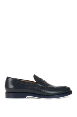 Penny loafers in calf leather BOSS Clearance 100% Guaranteed 69KexGEjTJ