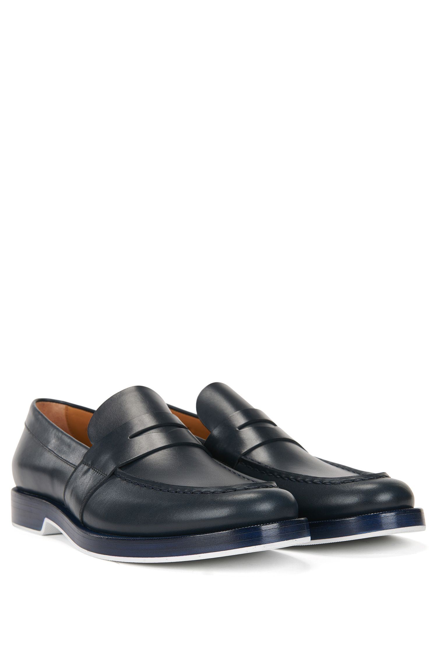 Penny loafers in calf leather