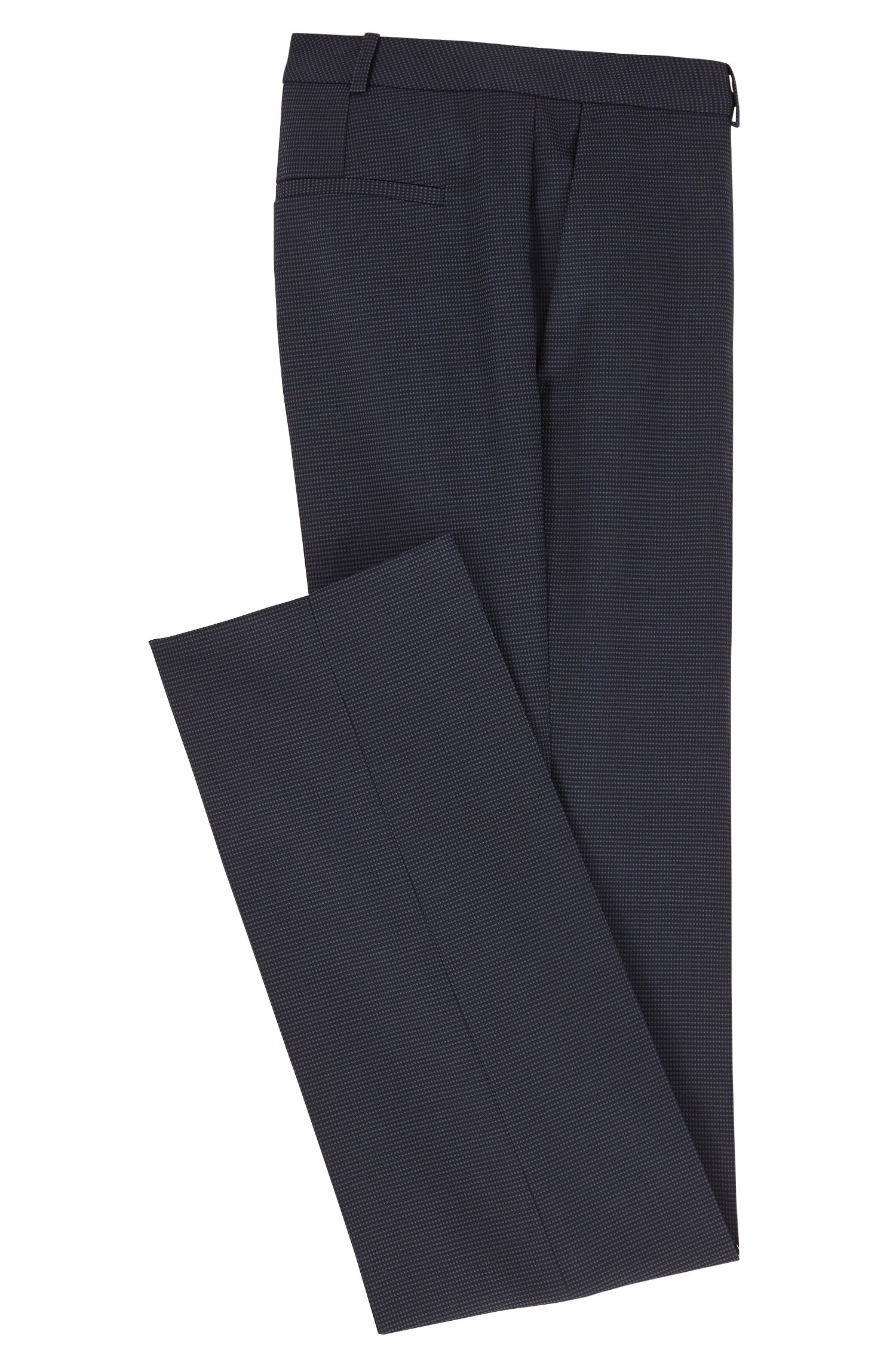 Pantalon ajusté Regular Fit en laine vierge stretch