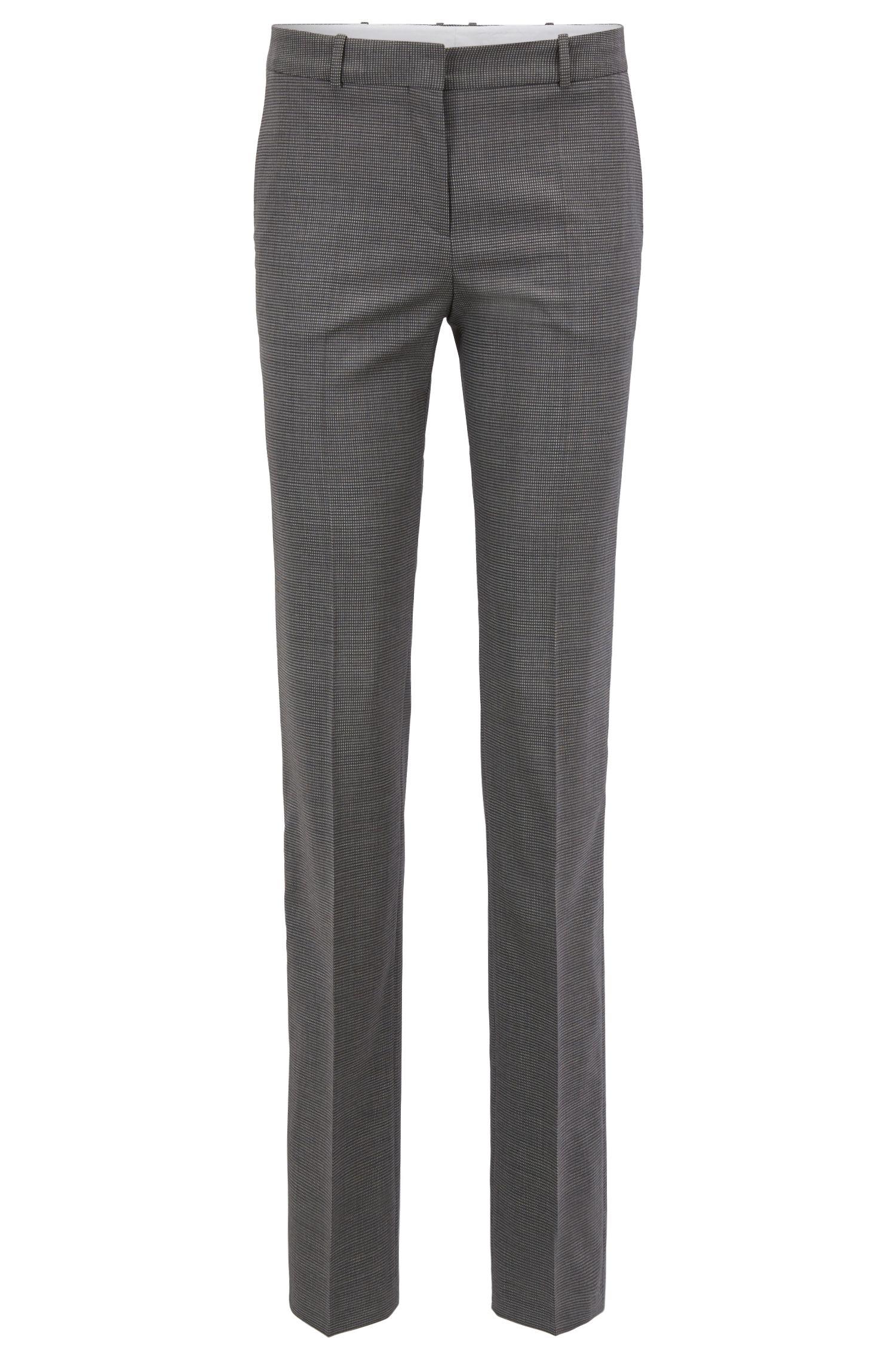 Regular-fit pantalon van elastische scheerwol