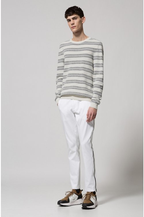 Hugo Boss - Cotton-blend sweater with jacquard stripe - 2