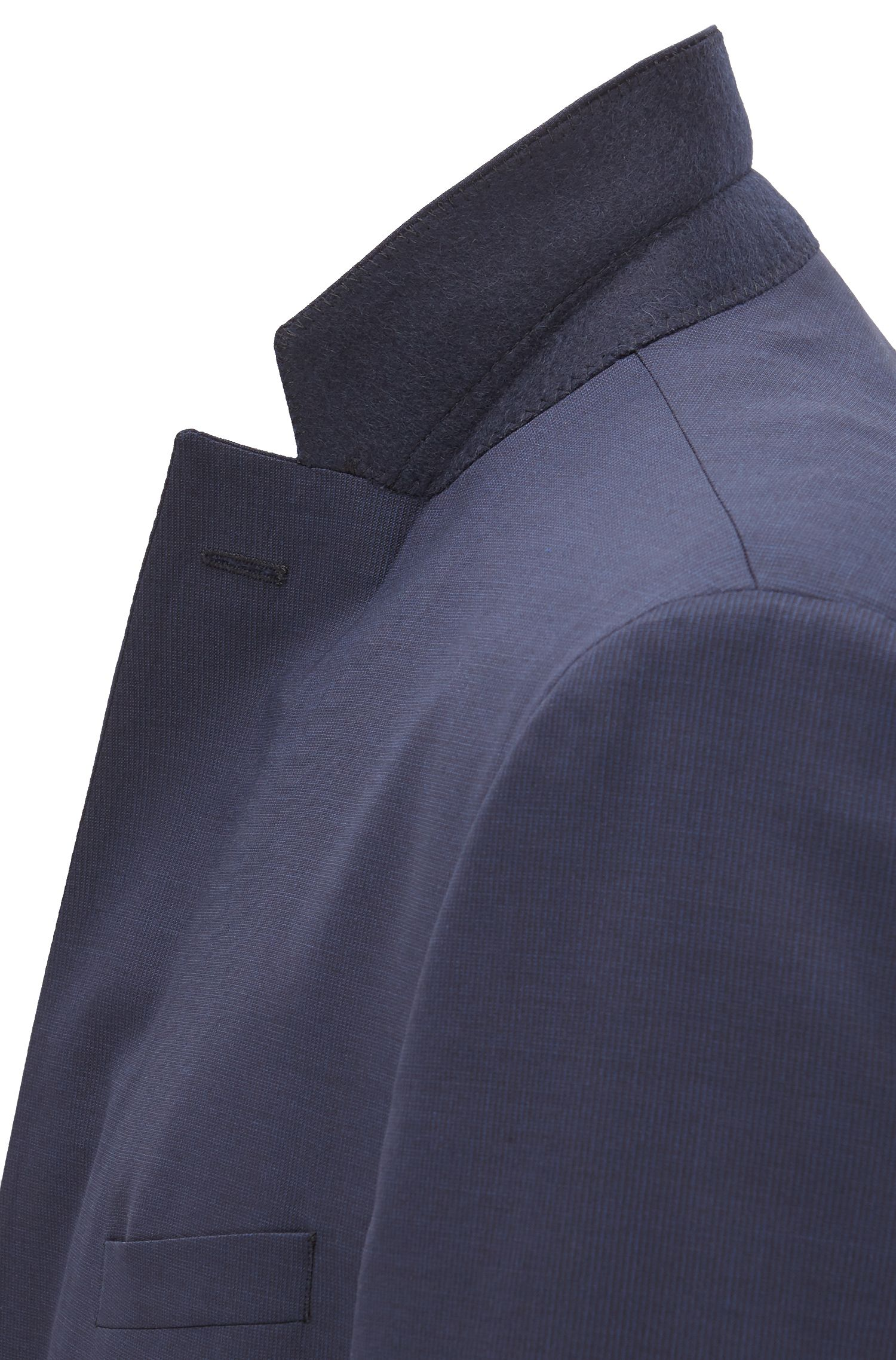 Extra-slim-fit suit in a wool blend with natural stretch