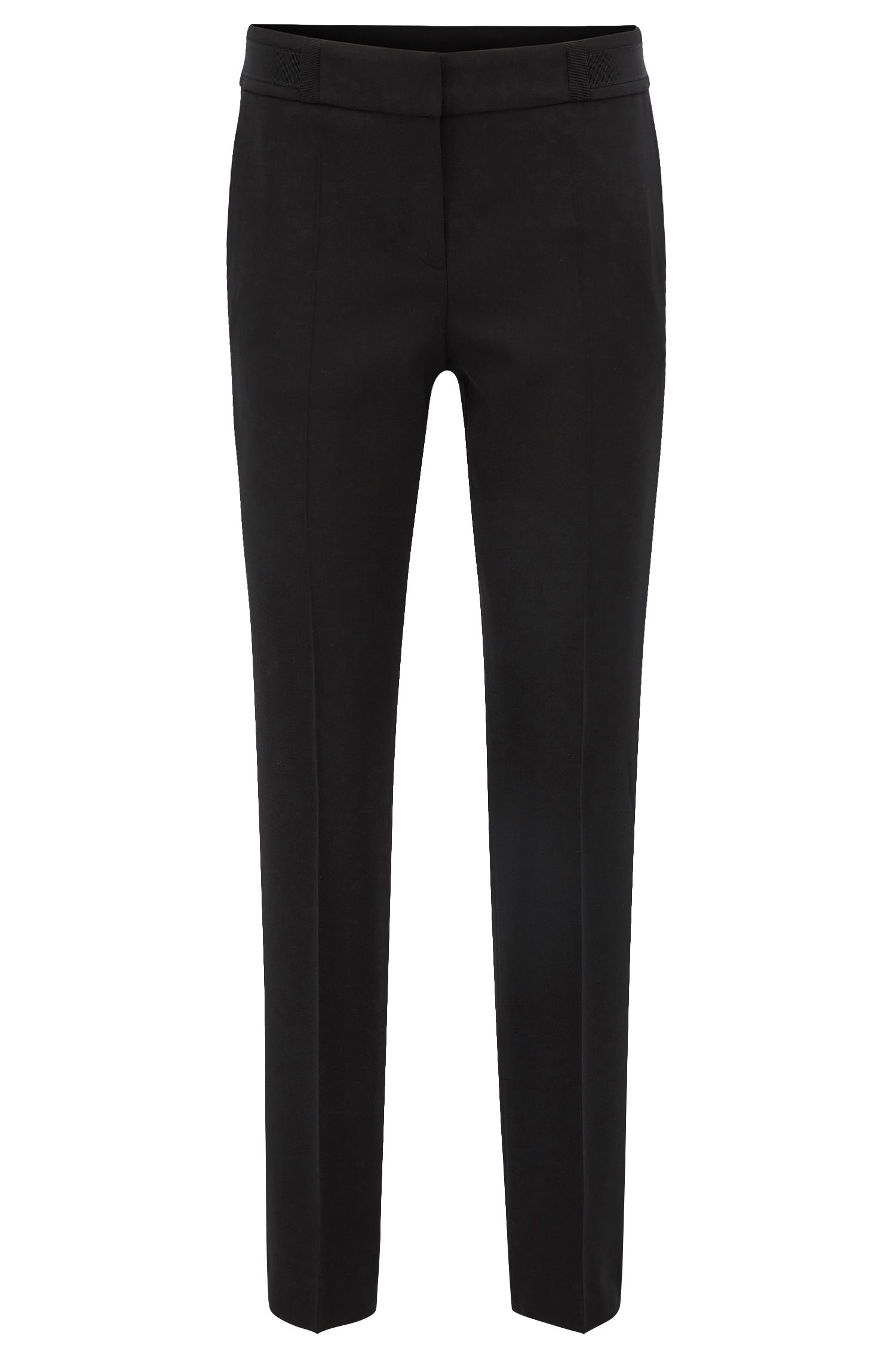 Regular-fit trousers in stretch virgin-wool twill