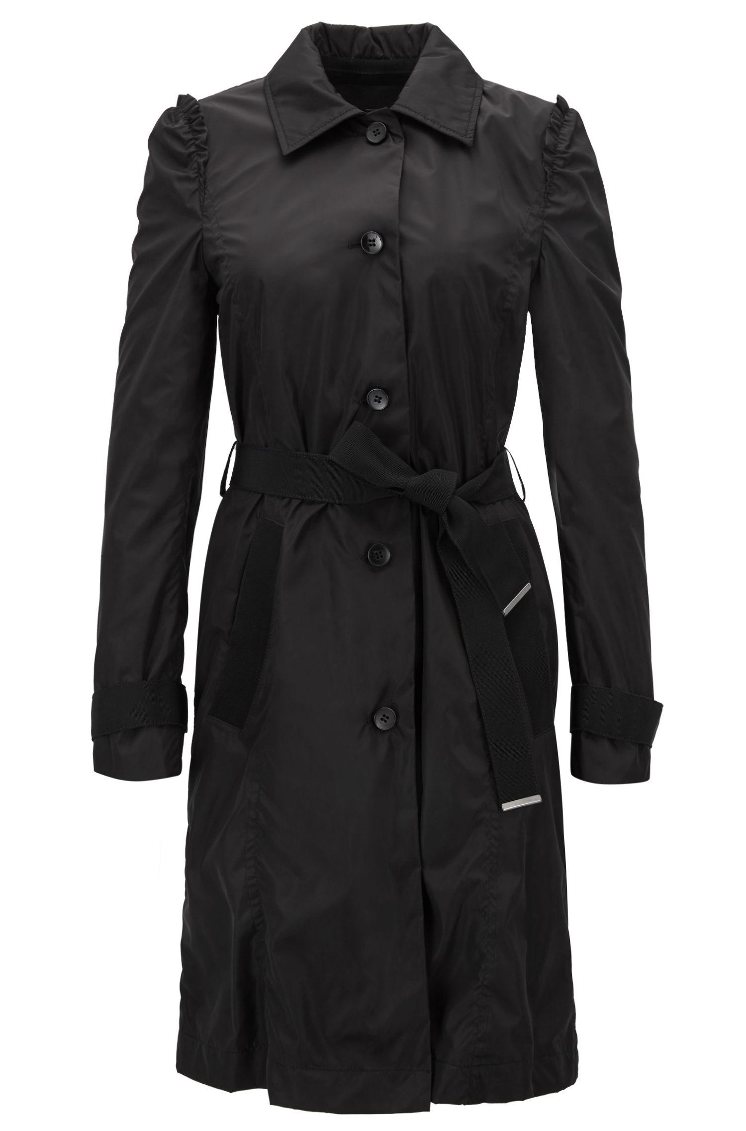 Trench-coat en tissu technique imperméable