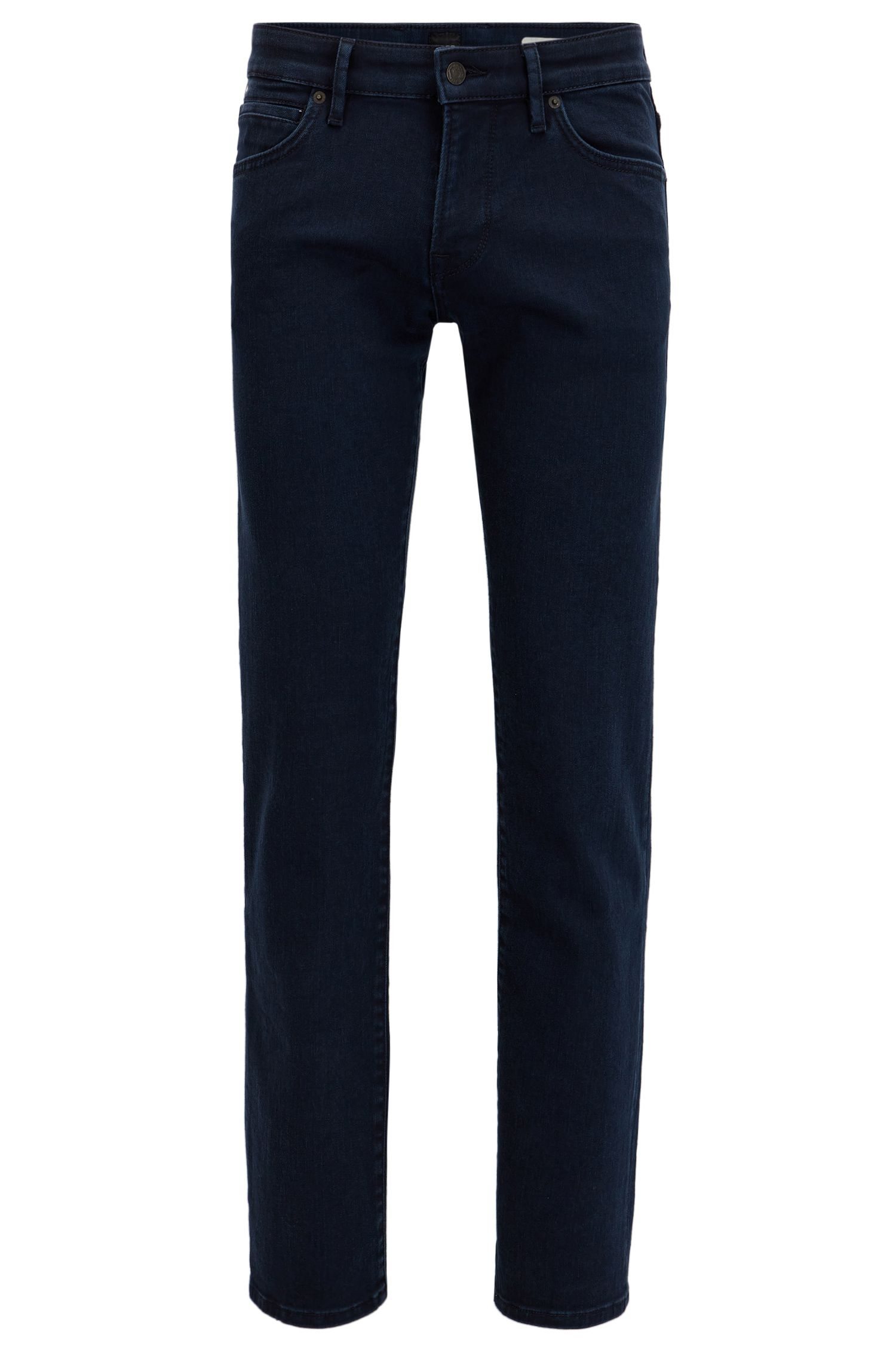 Regular-fit blue jeans in comfort stretch denim