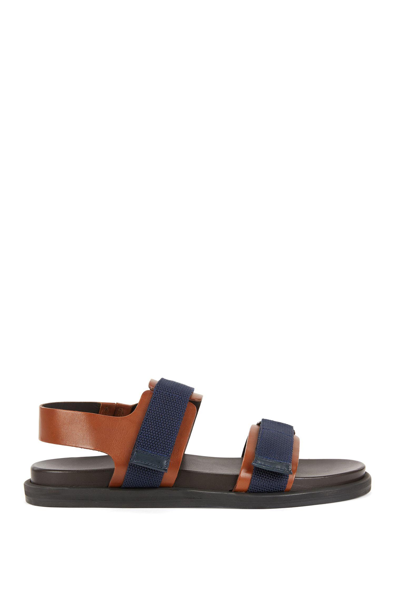 Sandalias de piel de becerro italiana con suela de goma EVA