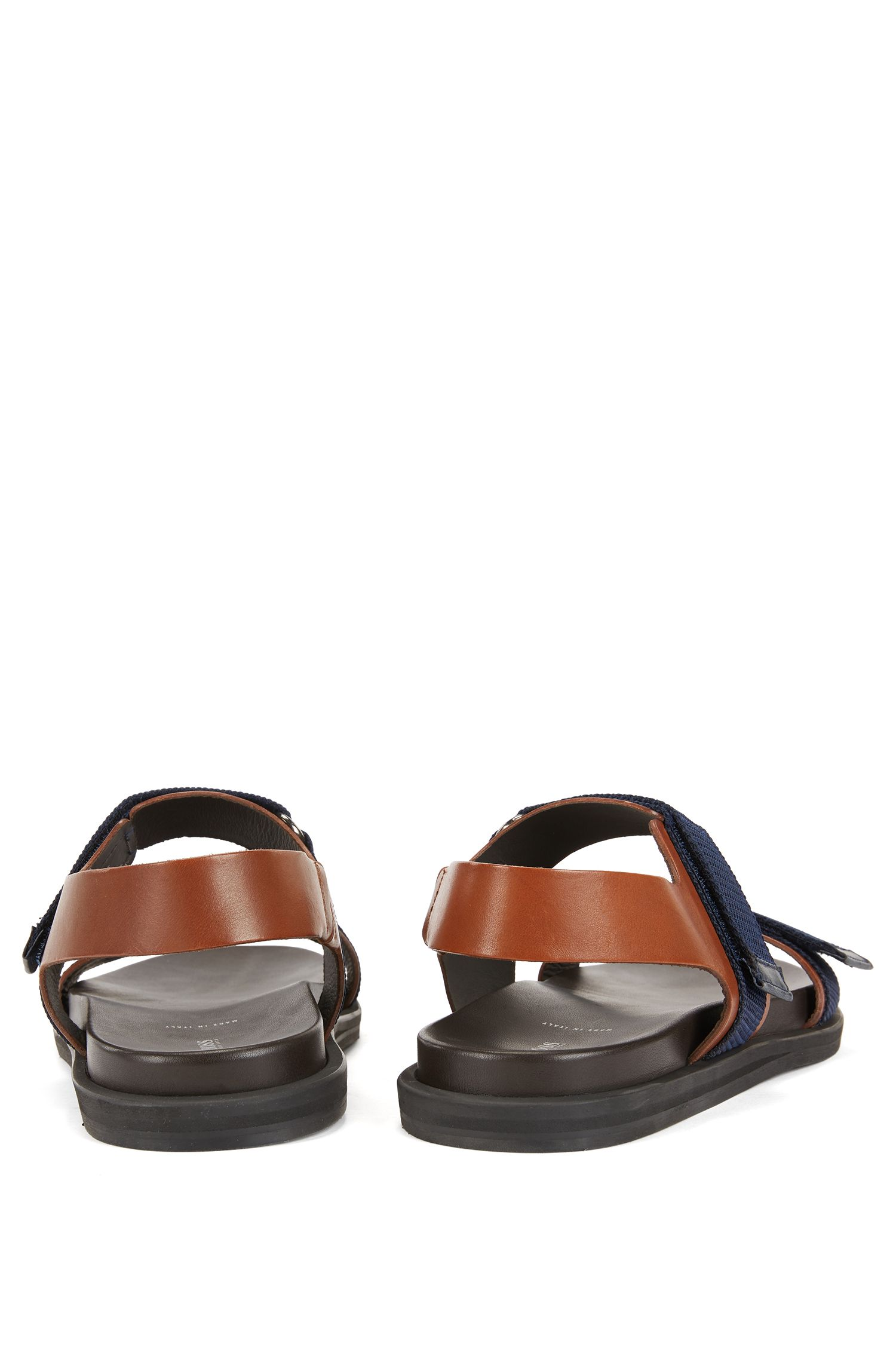 Italian calf-leather sandals with EVA rubber sole