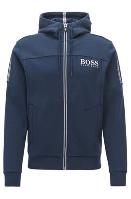HUGO BOSS Sweat zippé en molleton chiné rPaIpO3