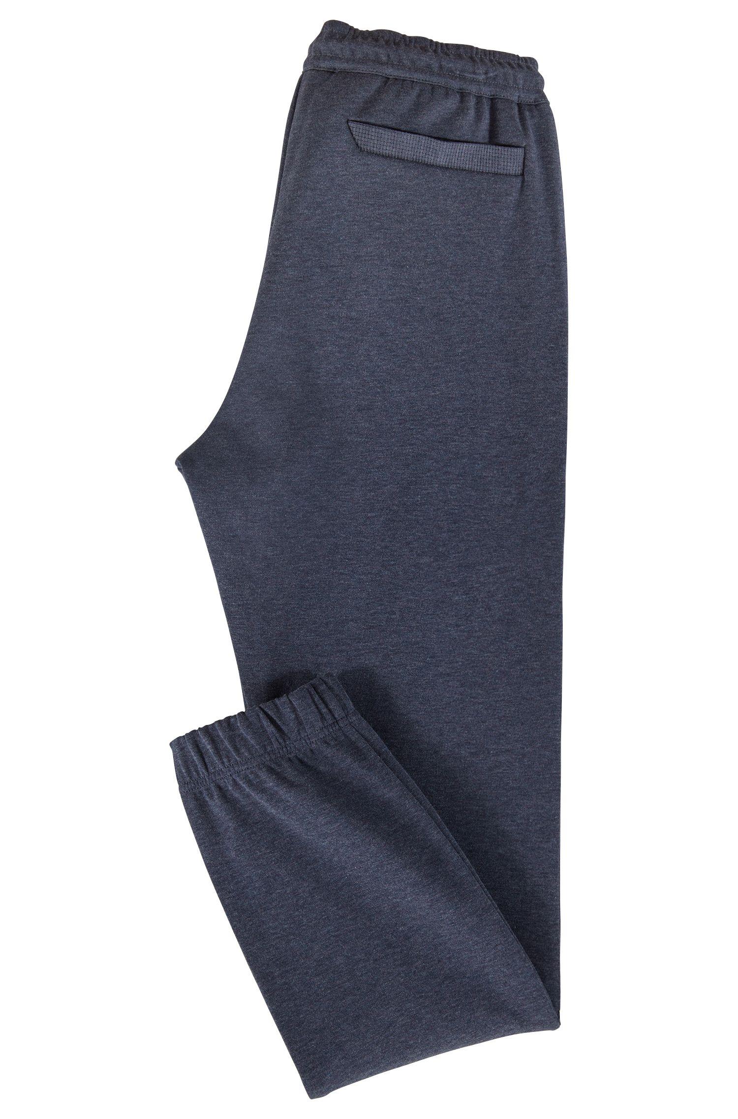 Slim-Fit Jogginghose aus Baumwoll-Mix mit Streifen-Dessin, Dunkelblau