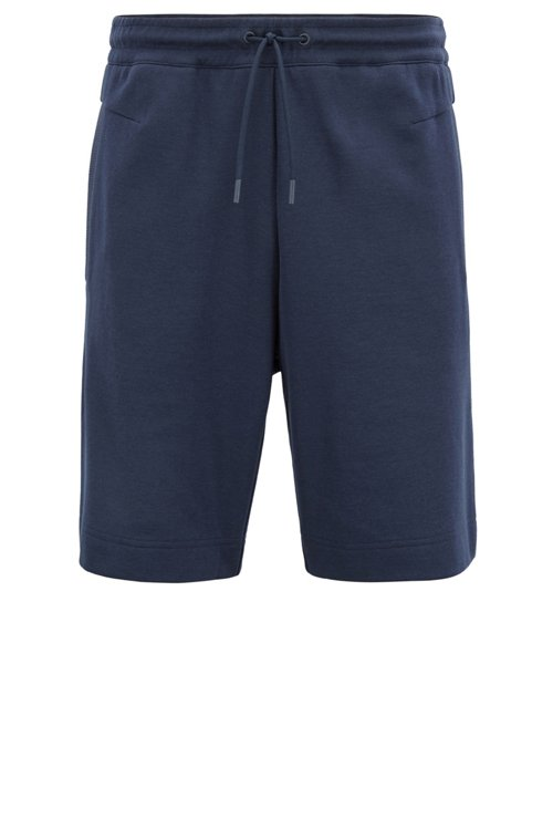 Hugo Boss - Slim-fit cotton-blend shorts with two-colour logo embroidery - 1