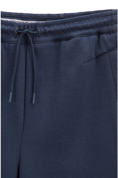 Hugo Boss - Slim-fit cotton-blend shorts with two-colour logo embroidery - 4