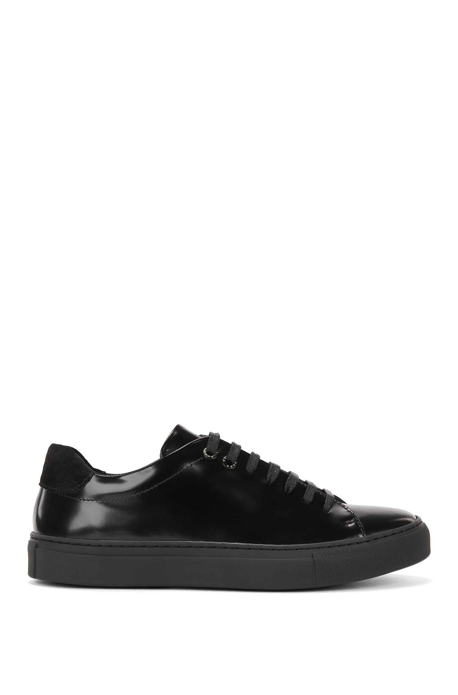 Lowtop Sneakers aus italienischem Canvas und Leder
