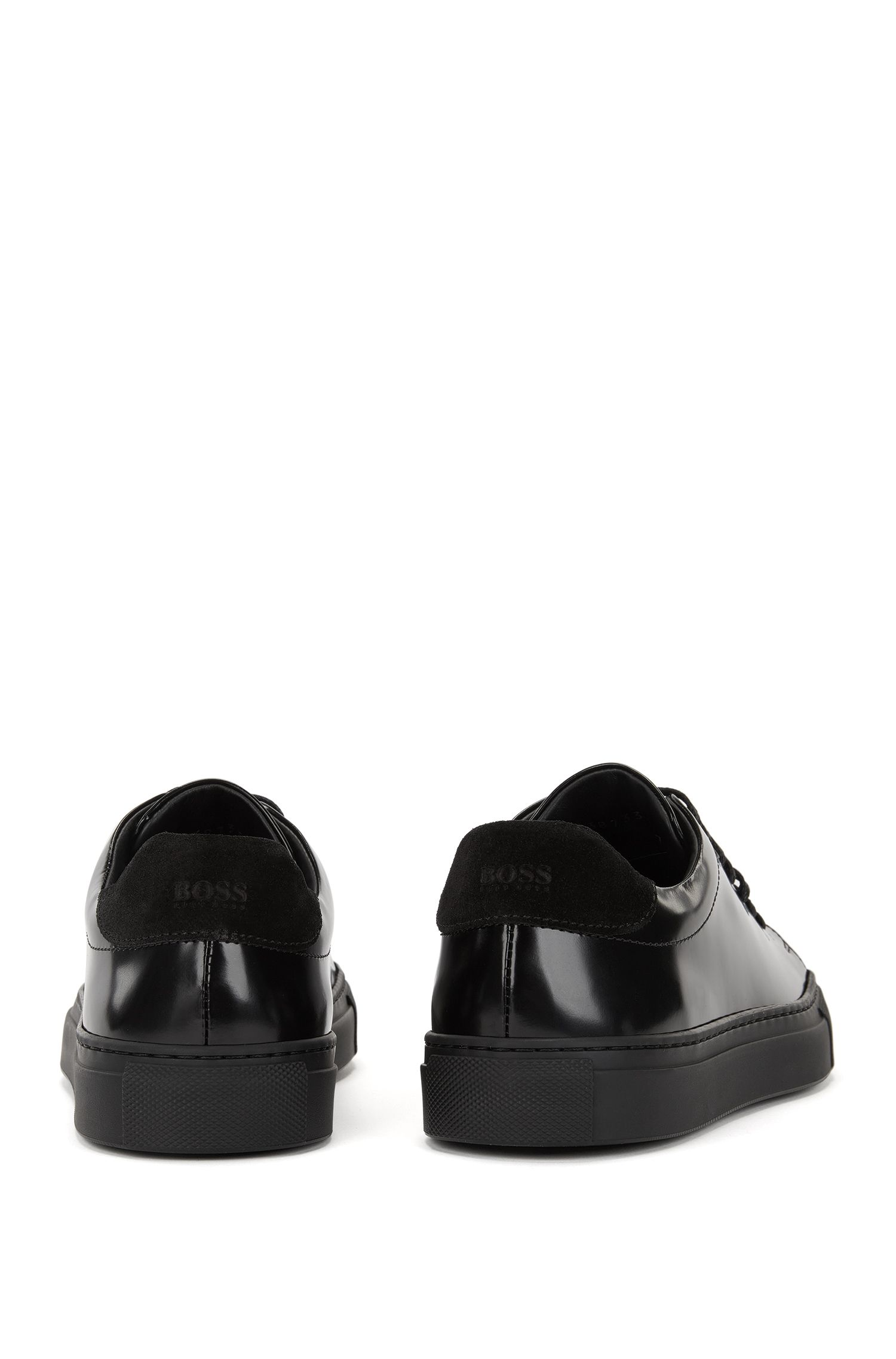 Sneakers low-top in pelle e tela realizzate in Italia
