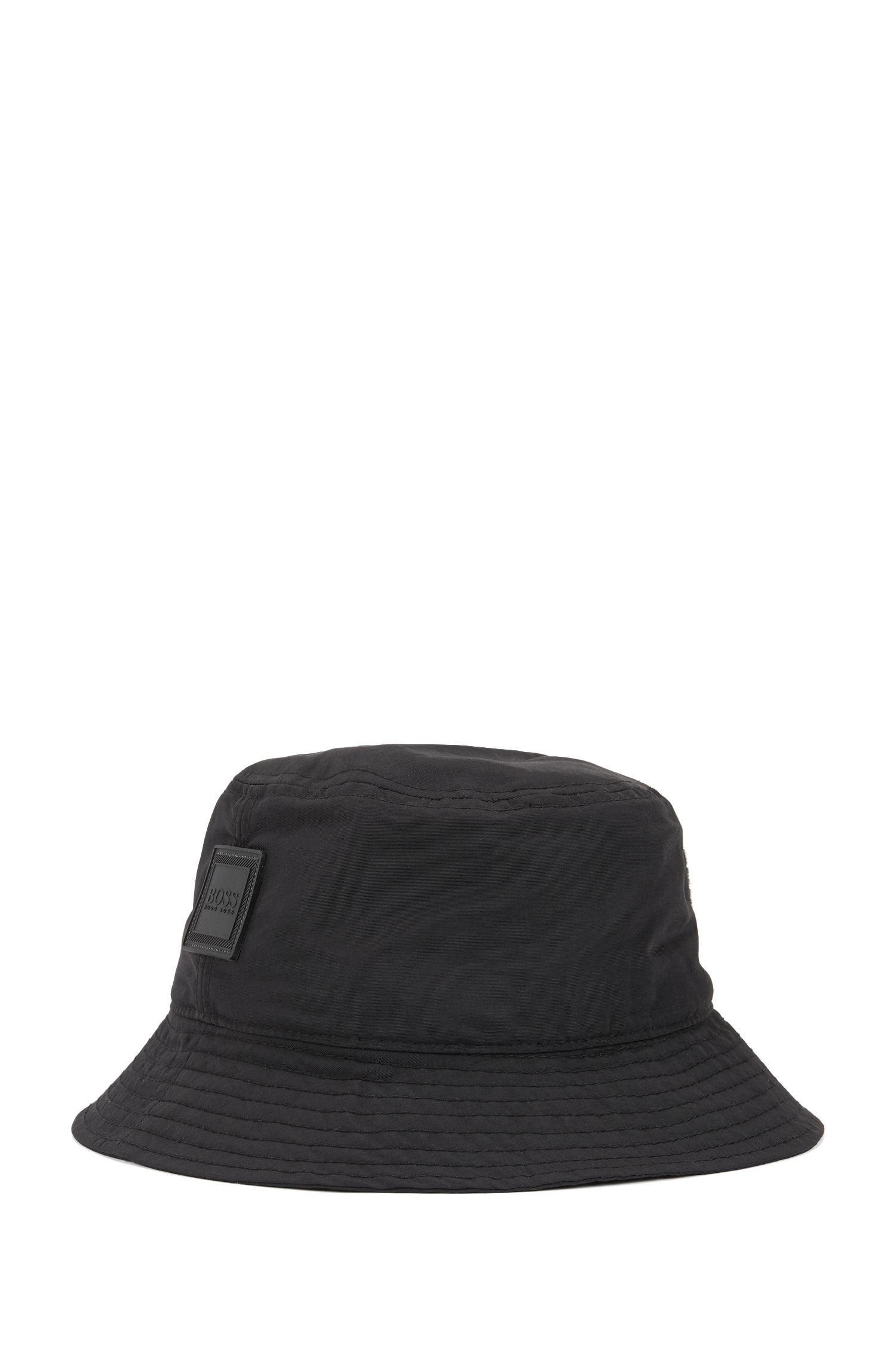 Bucket-style fisherman's hat in water-repellent technical fabric