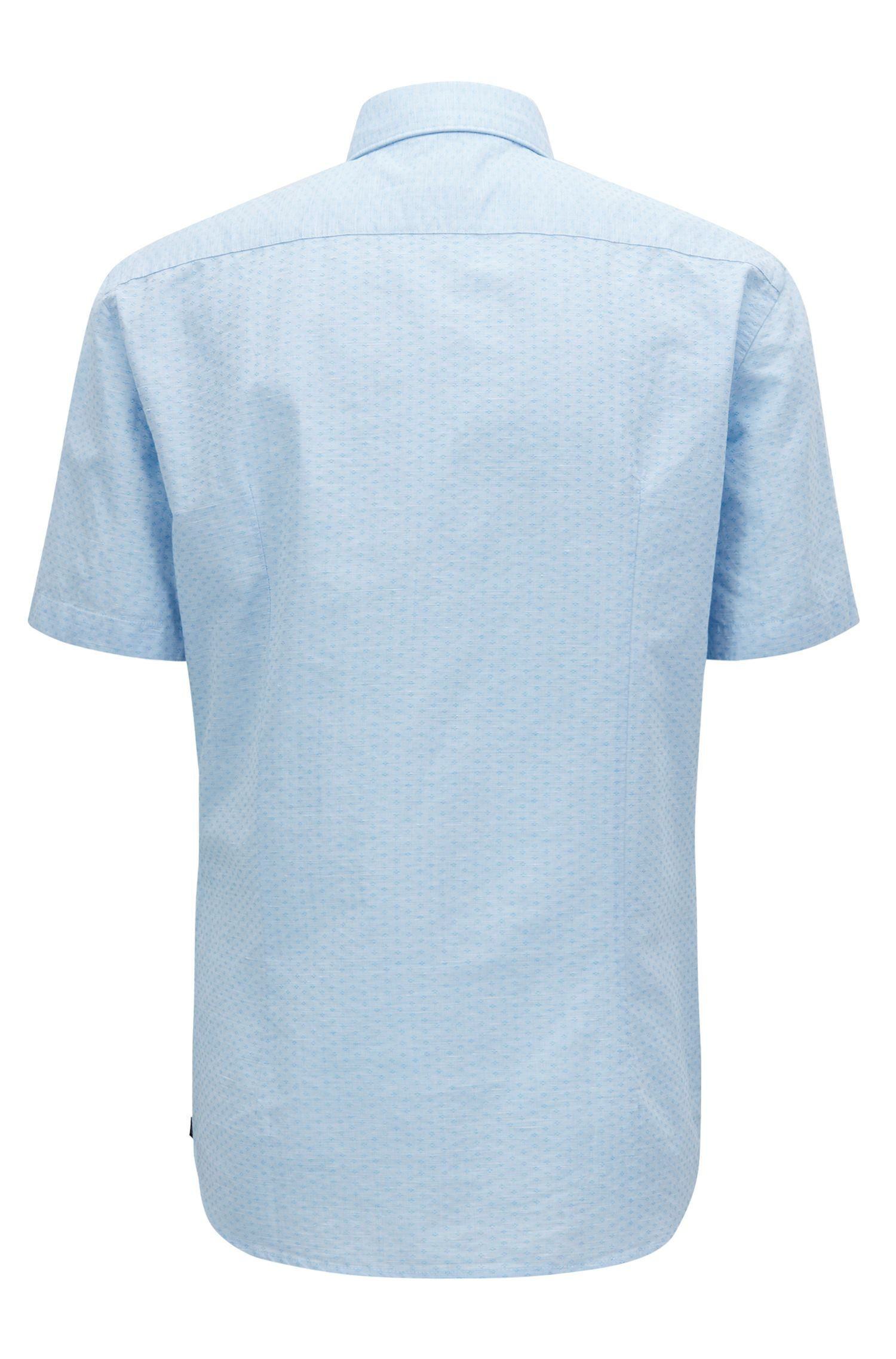 Slim-fit shirt in cotton-blend dobby