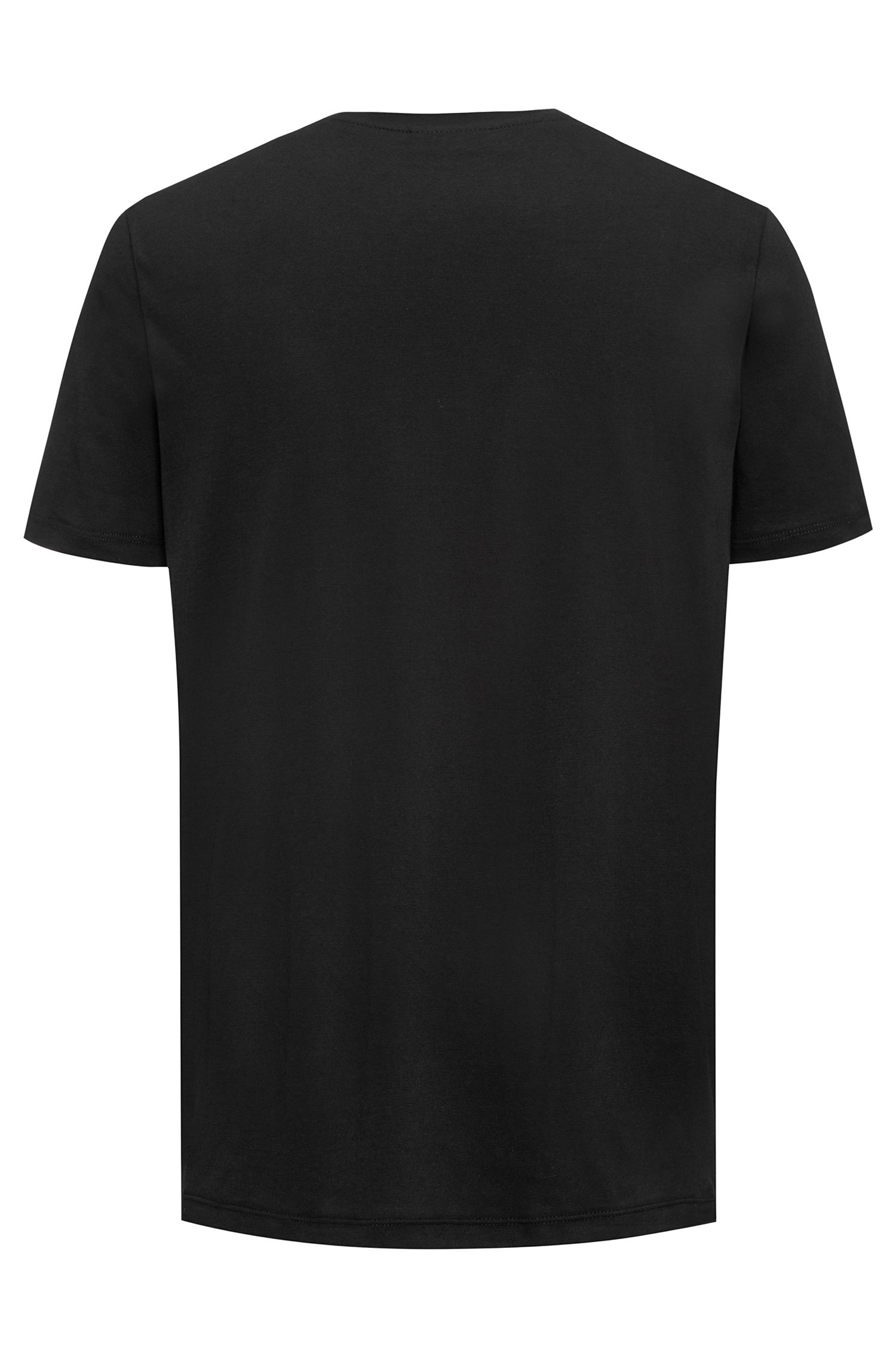 T-shirt con logo relaxed fit in jersey di cotone, Nero