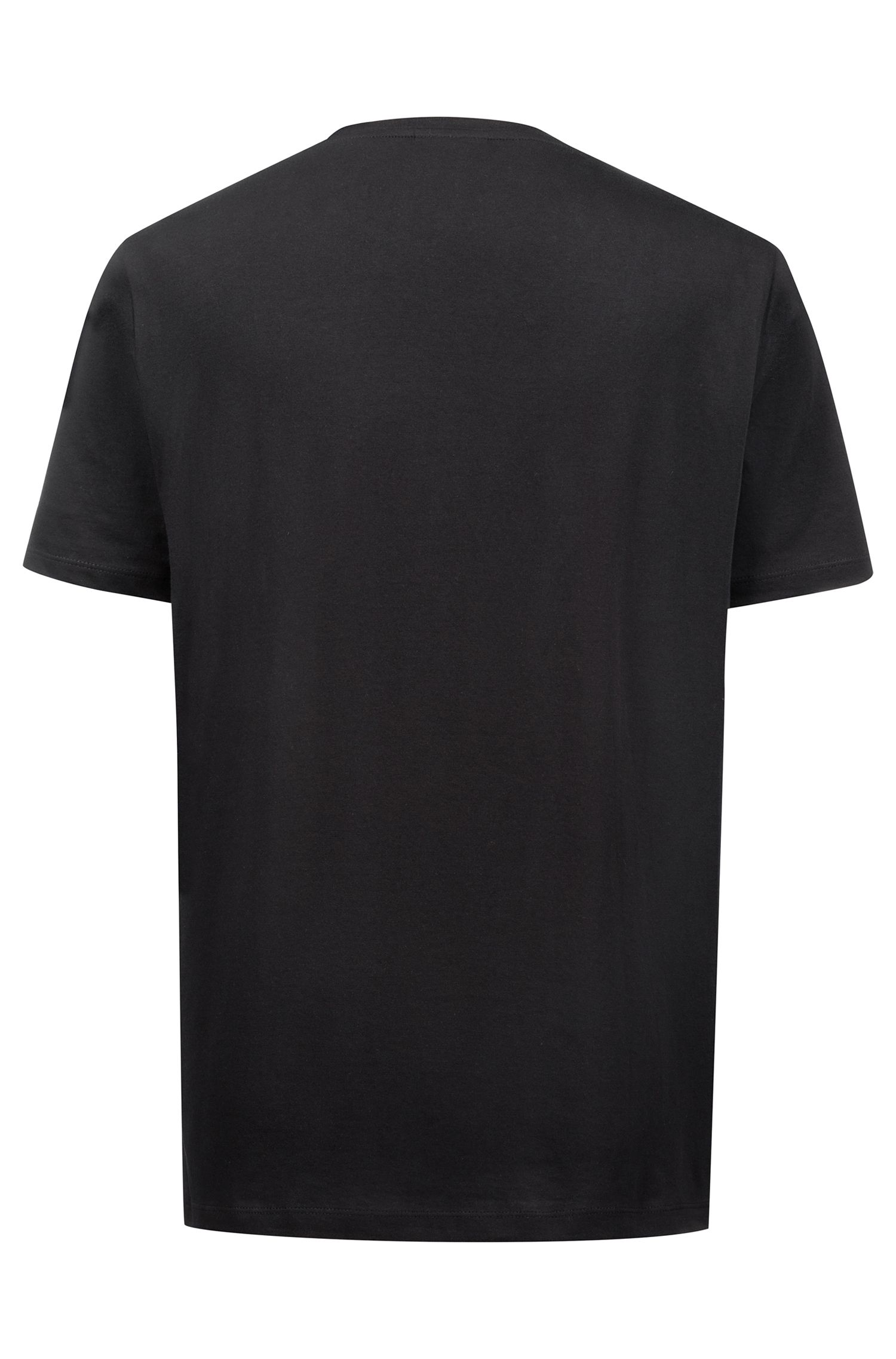 Relaxed-fit logo T-shirt in cotton jersey, Black