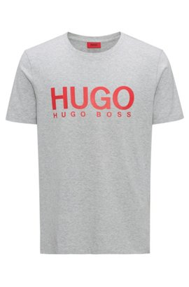 Oversized-fit T-shirt in cotton with large-scale logo HUGO BOSS Countdown Package Sale Online Discount Top Quality mOD0Y