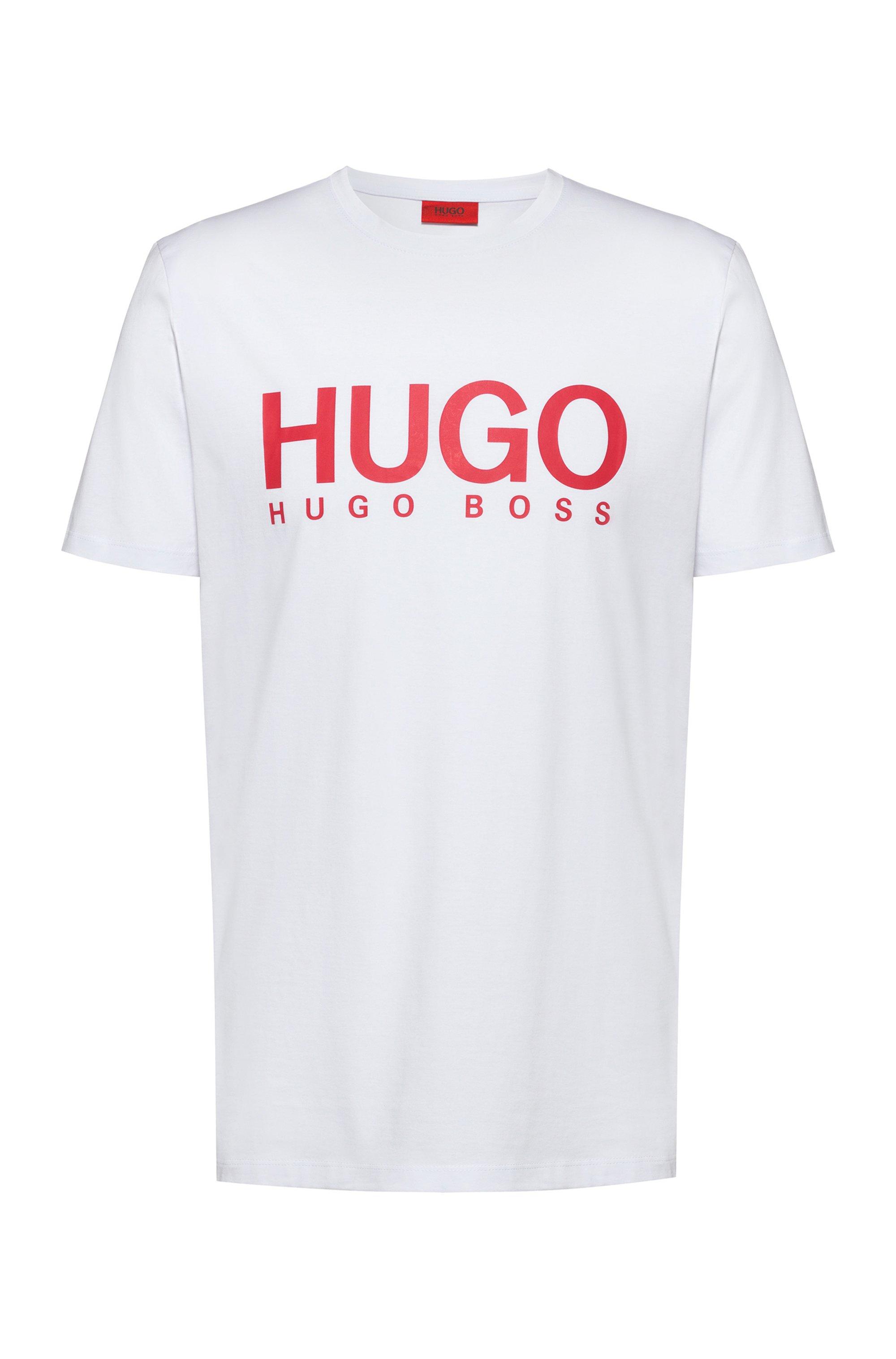 Logo-print T-shirt in single-jersey cotton, White