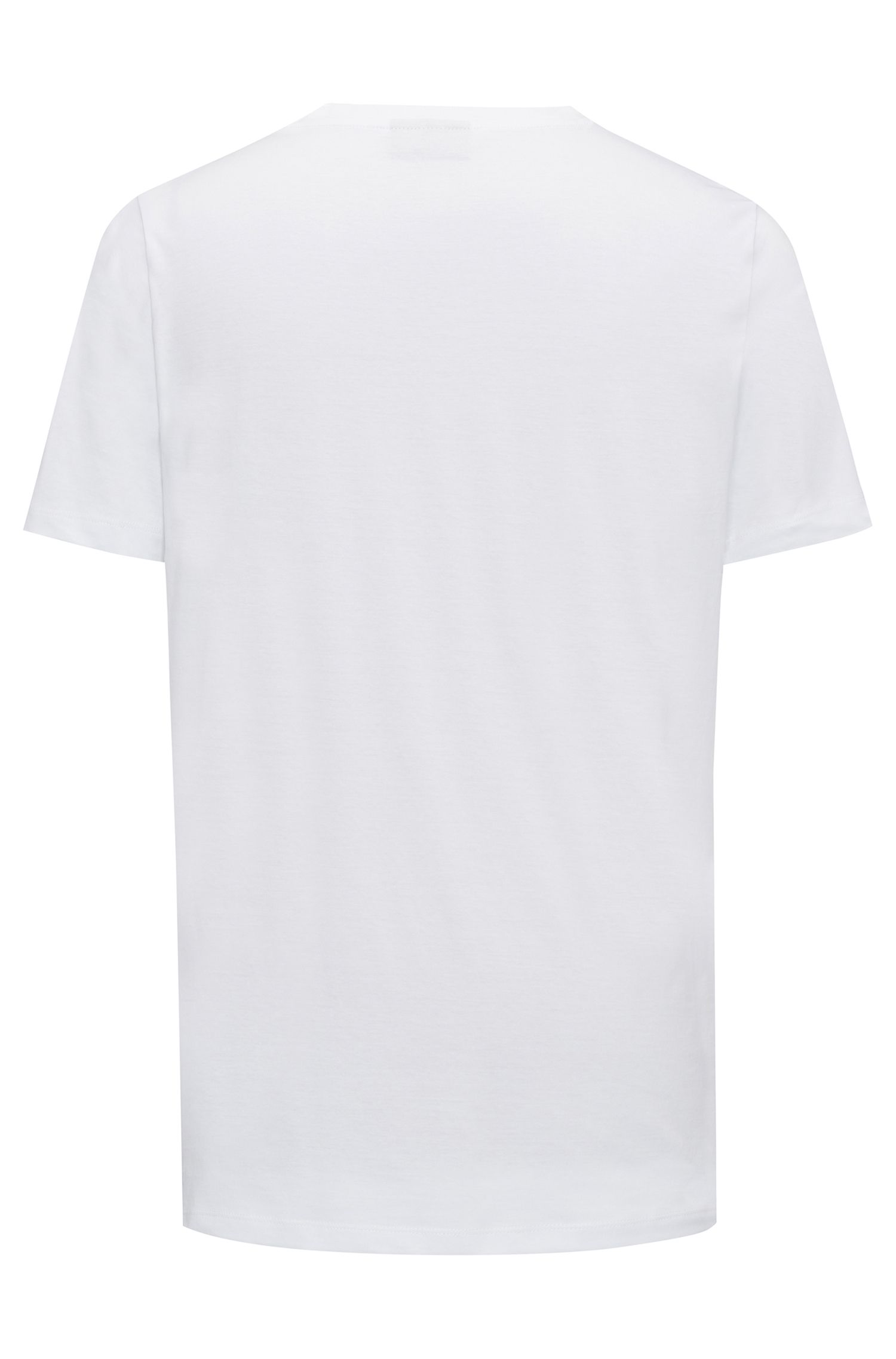 Relaxed-fit logo-T-shirt van katoenen jersey, Wit