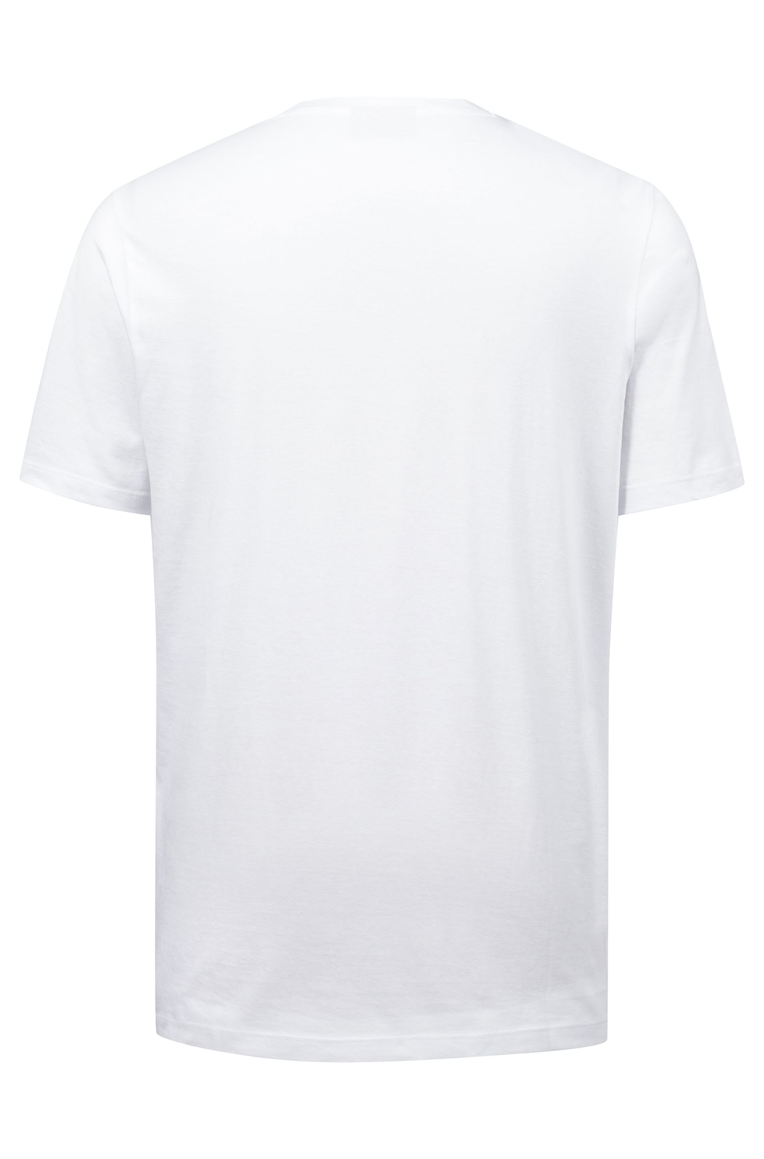 Relaxed-fit logo T-shirt in cotton jersey, White