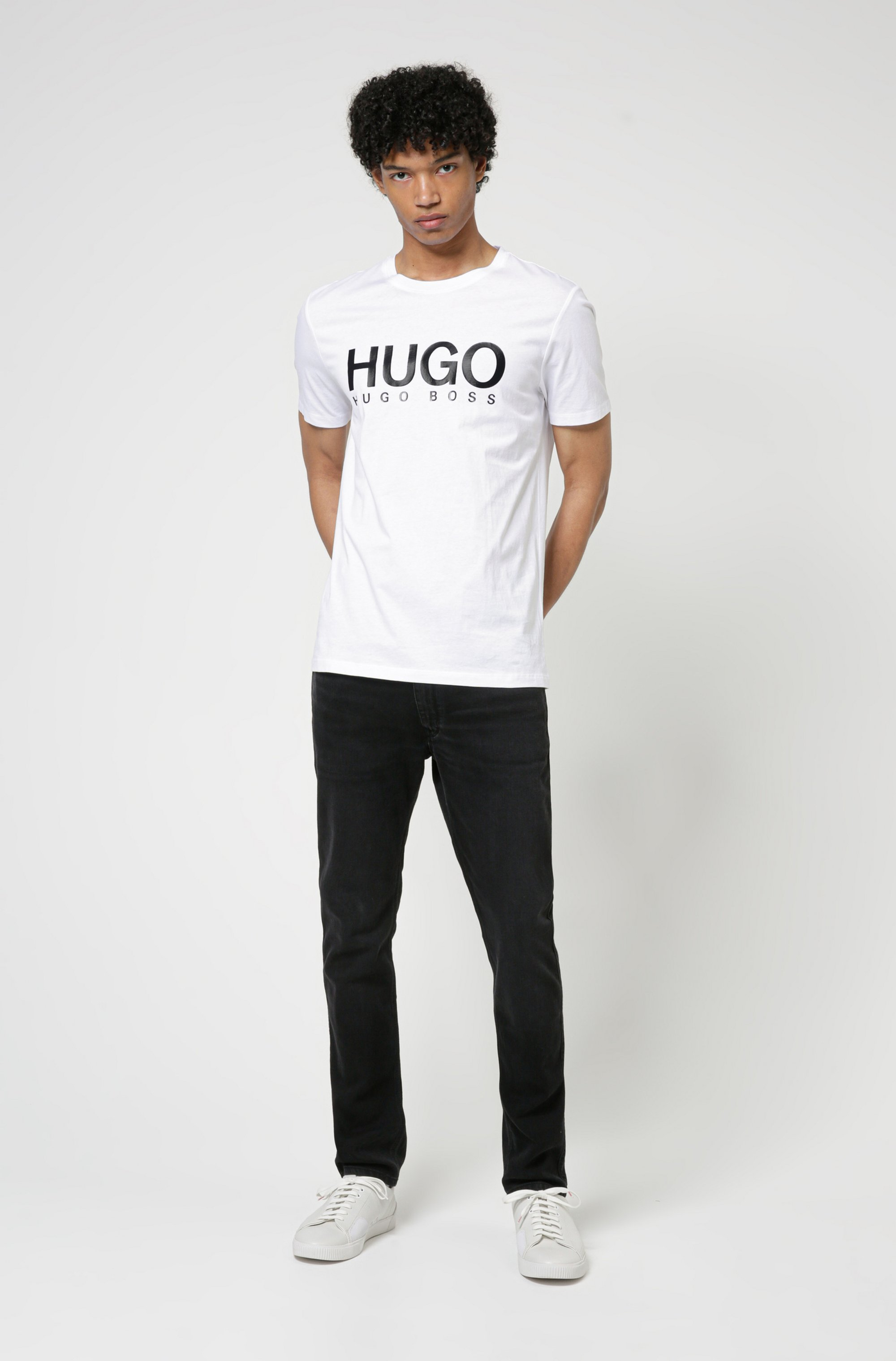 Logo-print T-shirt in single-jersey cotton