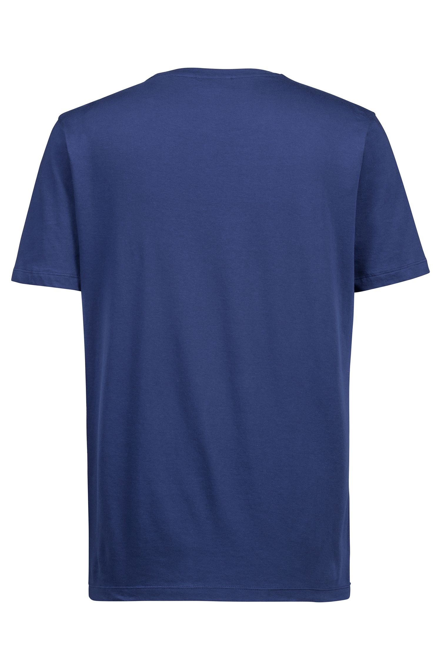 Relaxed-fit logo T-shirt in cotton jersey, Dark Blue