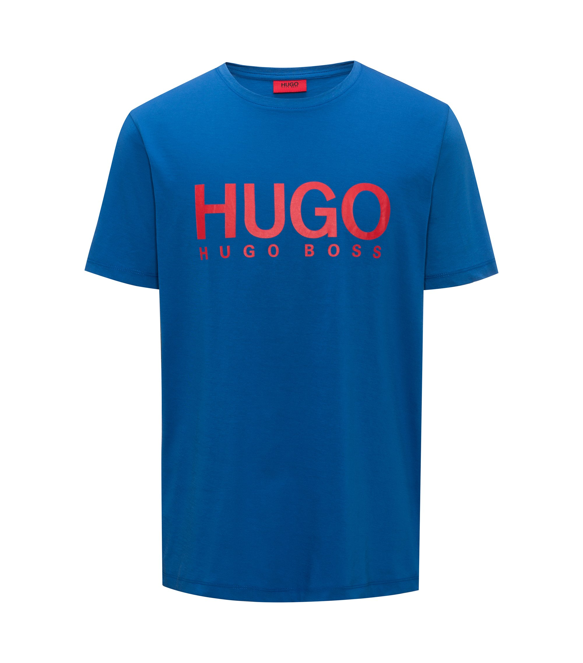 T-shirt con logo relaxed fit in jersey di cotone, Blu