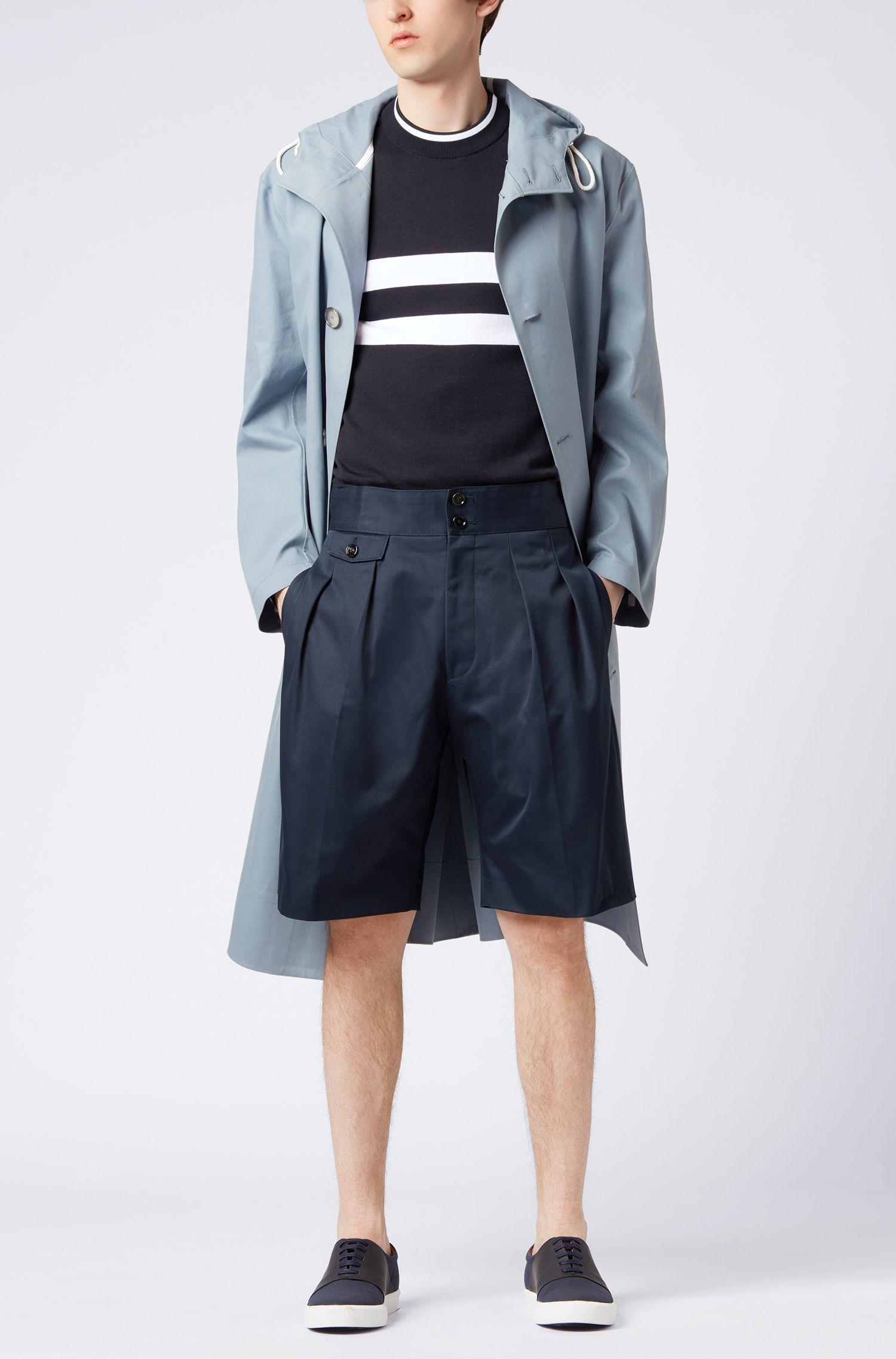 Maglione a girocollo in jersey di cotone a righe