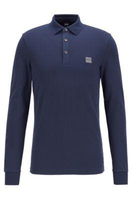 1d57e0165 HUGO BOSS | Long-sleeved polo shirts for men