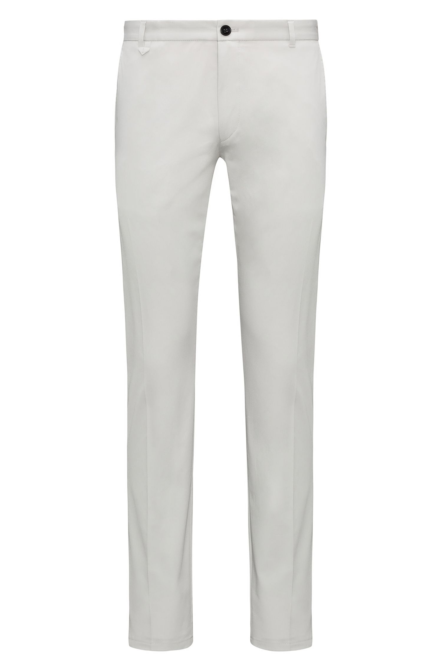 Extra-slim-fit stretch-cotton trousers with signature detailing