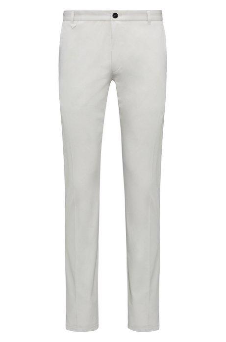 Extra-slim-fit stretch-cotton trousers with signature detailing HUGO BOSS Q30em
