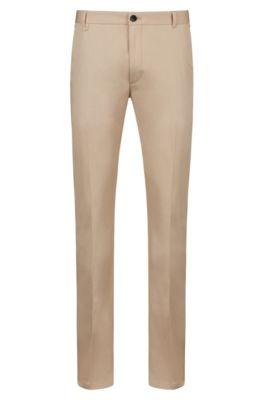 Pantalon Extra Slim Fit en coton stretch à détail emblématique, Beige