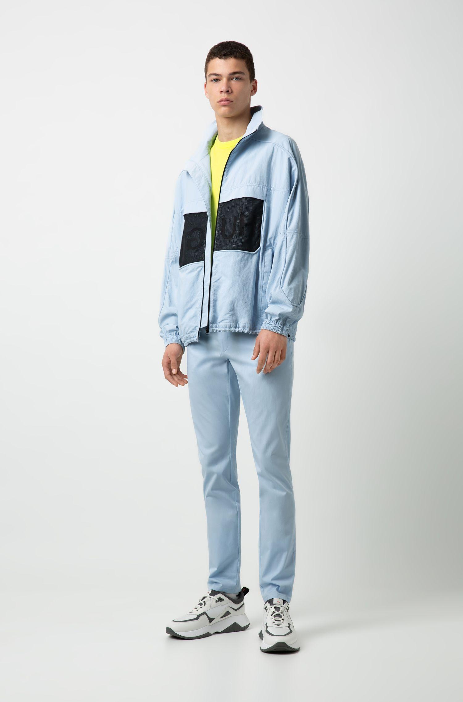 Pantalon Extra Slim Fit en coton stretch à détail emblématique, Bleu vif
