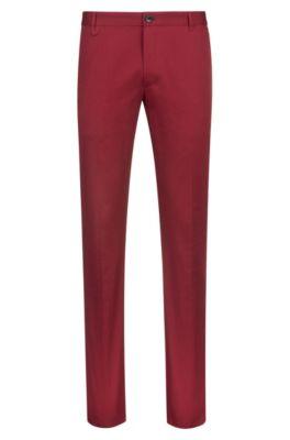 Pantalon Extra Slim Fit en coton stretch à détail emblématique, Rouge sombre