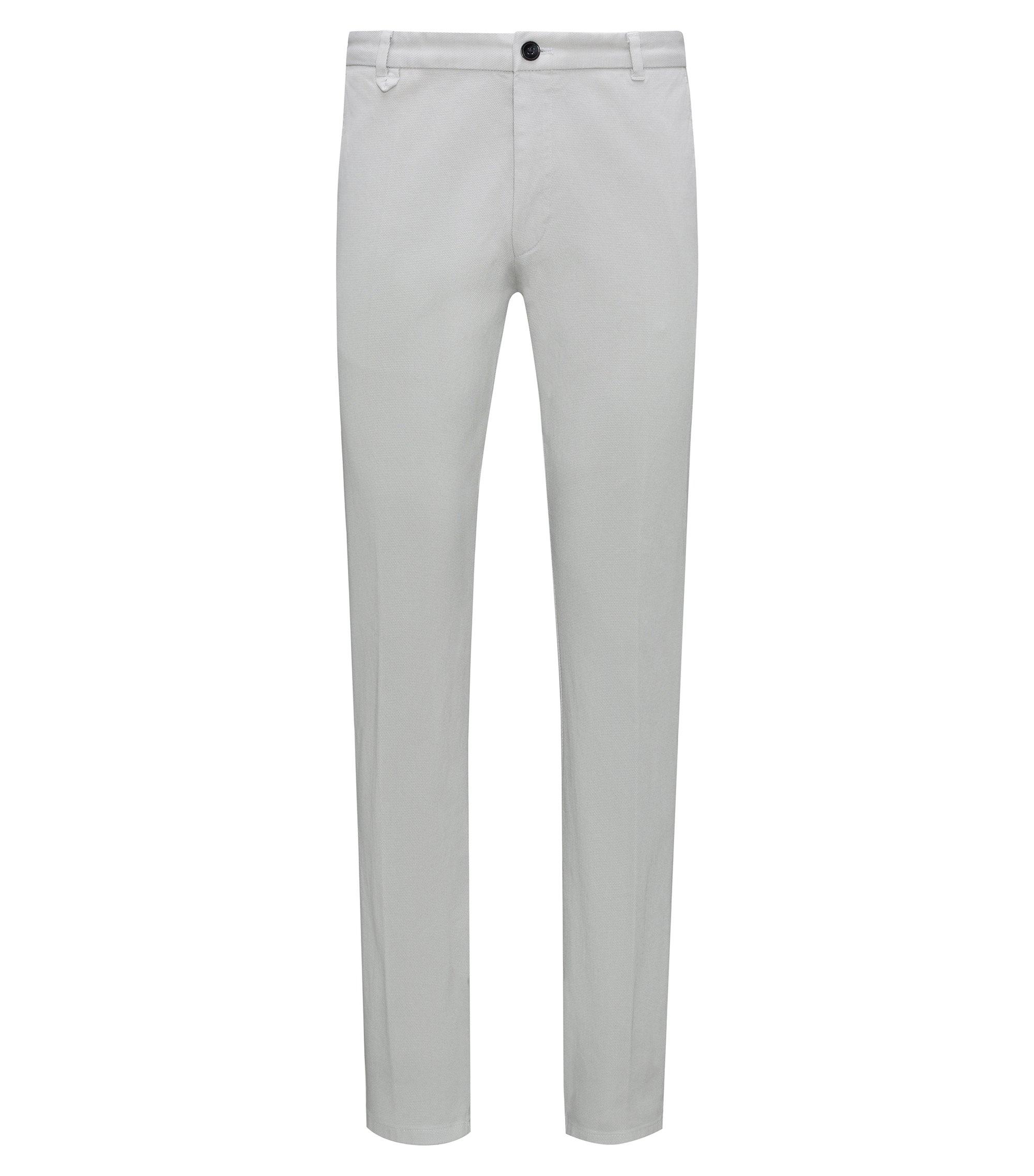 Pantalon extra slim fit en coton stretch à effet mesh, Gris