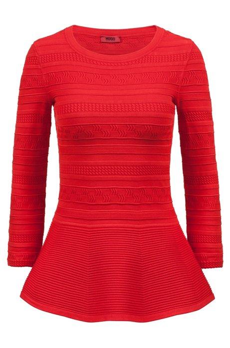 Peplum sweater in super-stretch yarn HUGO BOSS Discount Professional 6VuyYK6n