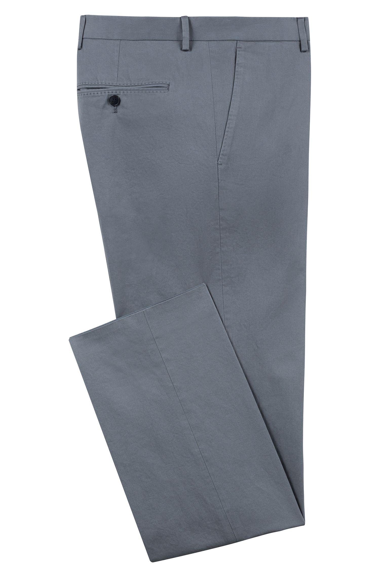 Pantalon Regular Fit en coton stretch lavé, Gris sombre