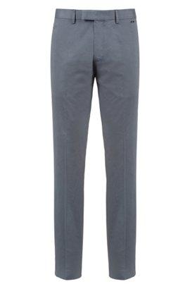 HUGO BOSS Pantalon Regular Fit en coton stretch lavé ZpcdsDM