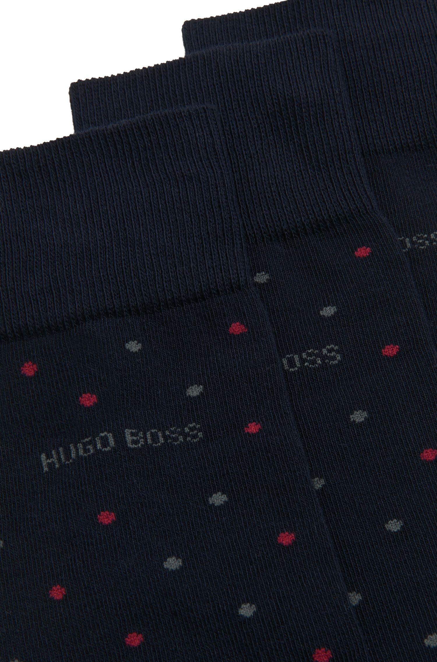 Zweier-Pack mittelhohe Socken aus Baumwoll-Mix mit druckfreien Spitzen, Dunkelblau
