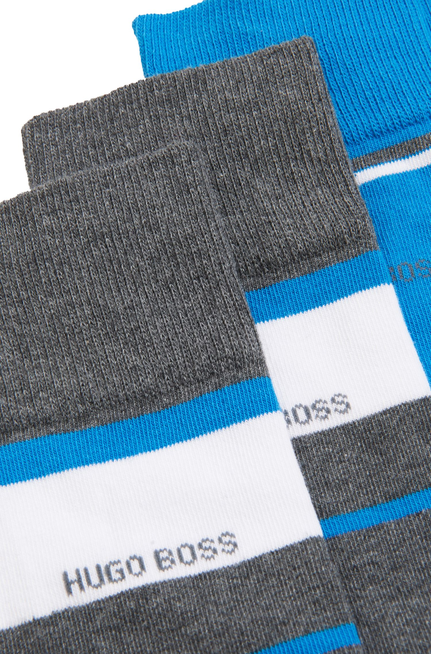 Two-pack of regular-length socks with stripe detailing