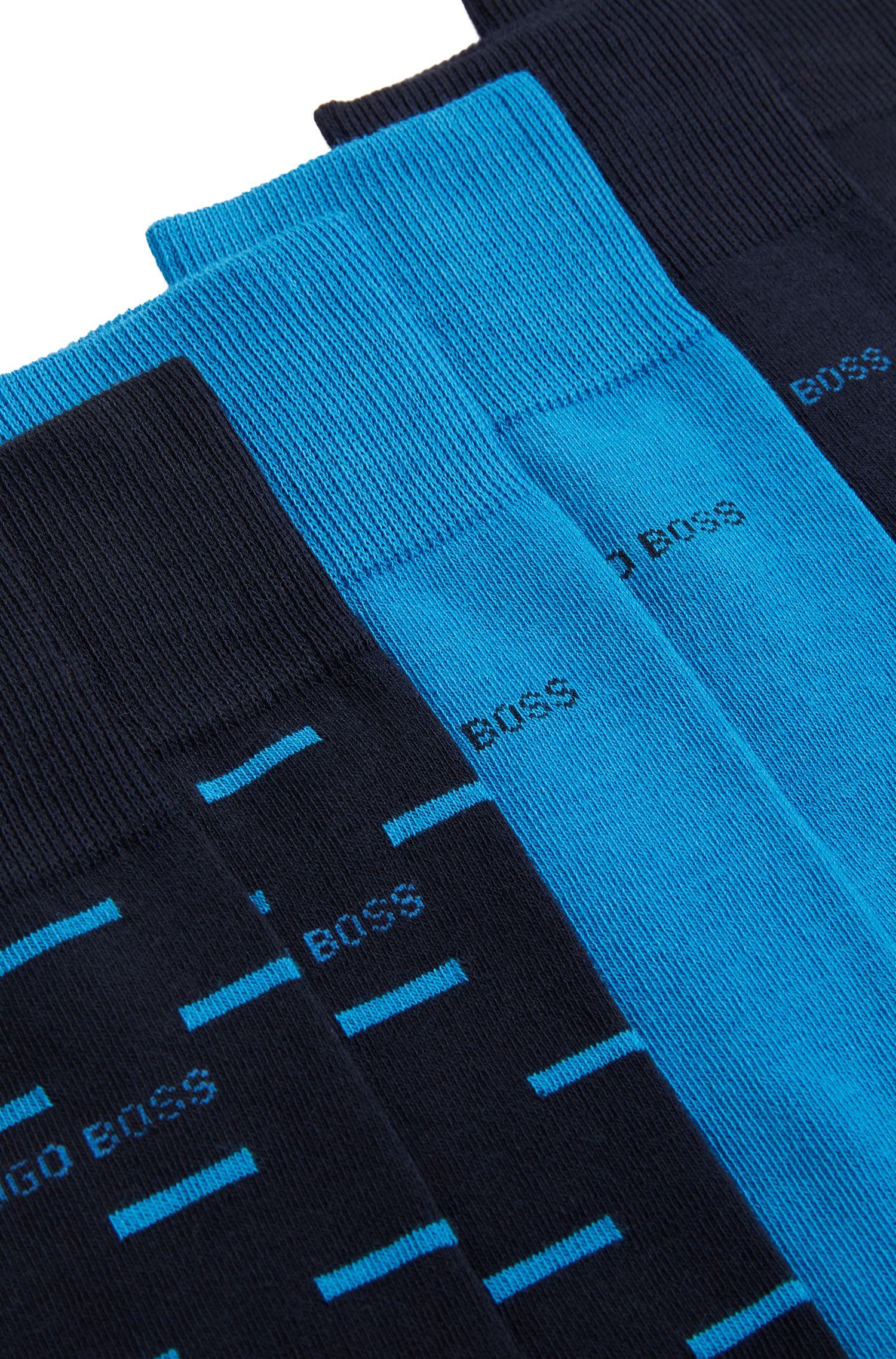 Set van drie paar sokken in een cadeauverpakking met merkaccent