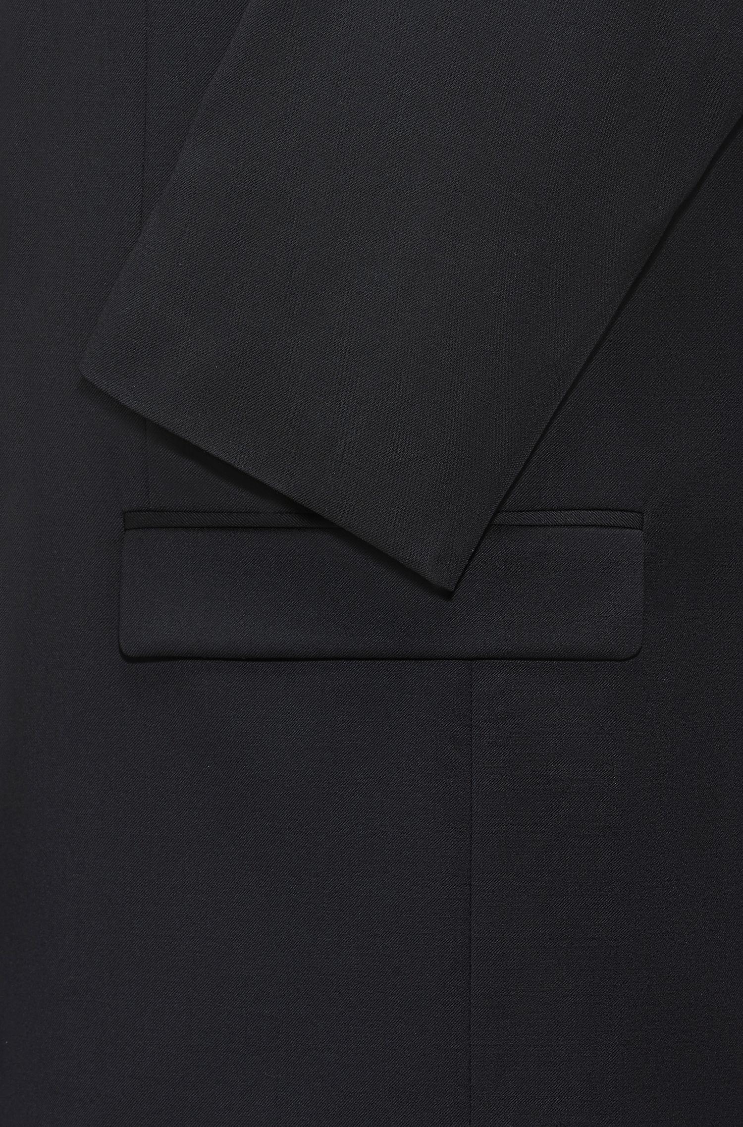 Giacca regular fit in lana vergine con chiusura a zip