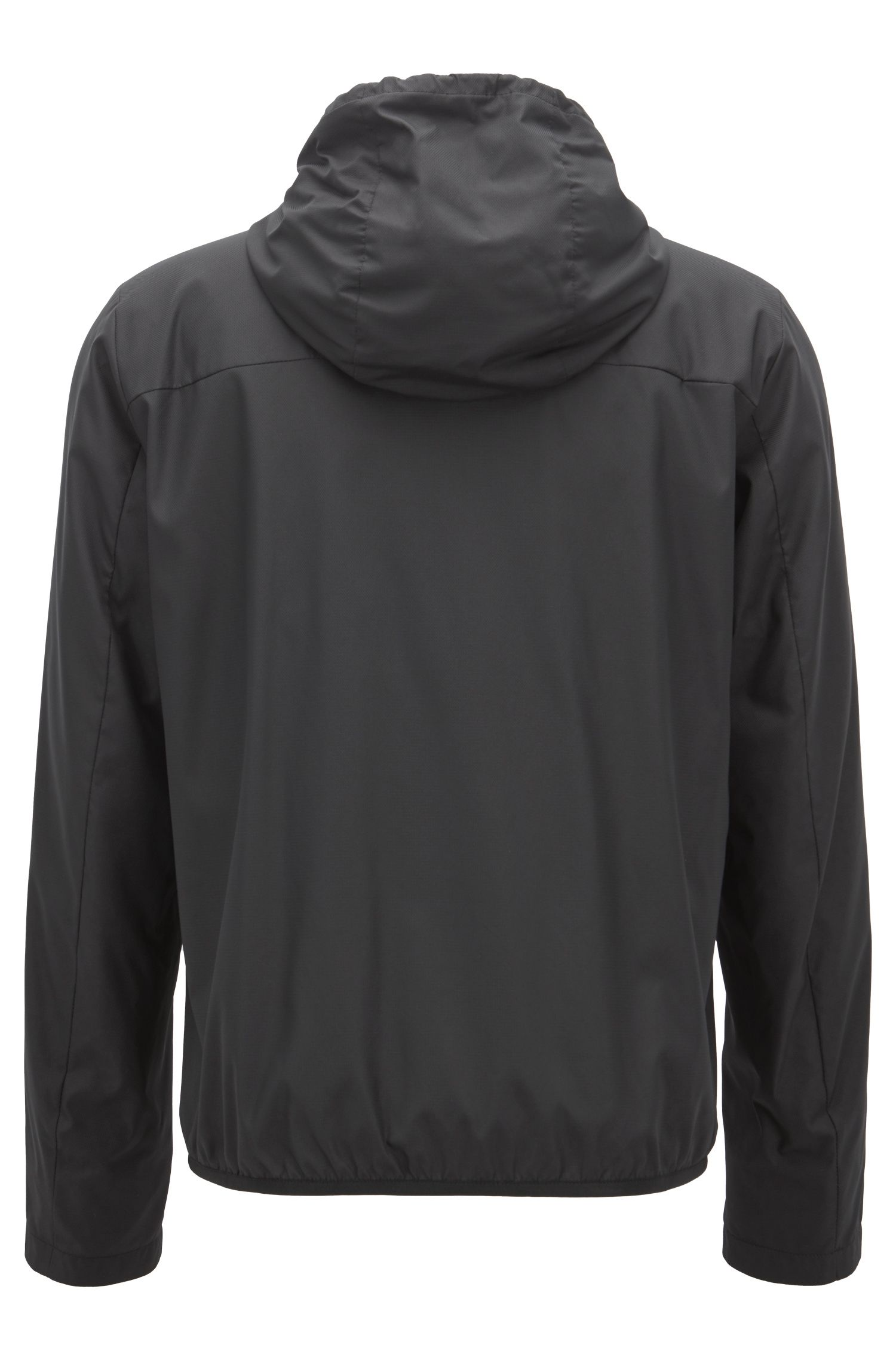 Water-repellent jacket in lightweight fabric with logo details