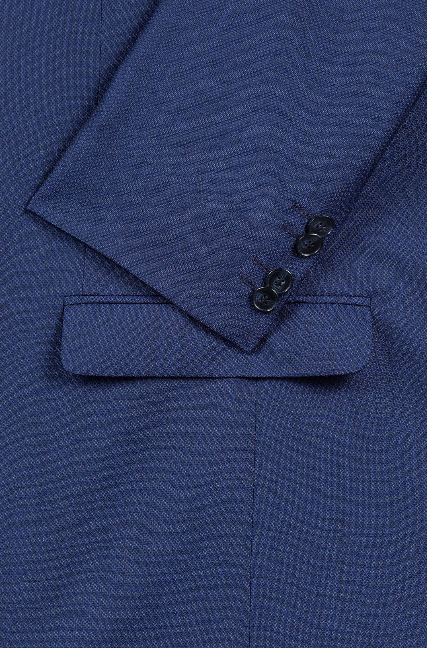 Blazer extra slim fit en lana virgen con microestructura