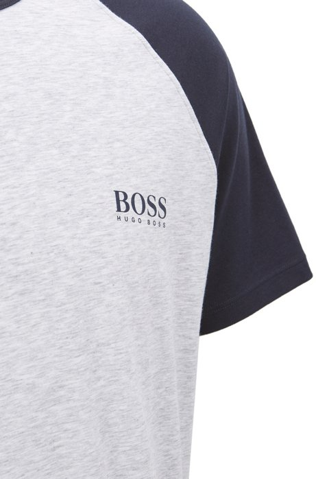 Pyjama top in single jersey with contrast sleeves BOSS Clearance Deals Outlet Sneakernews bDpcMY